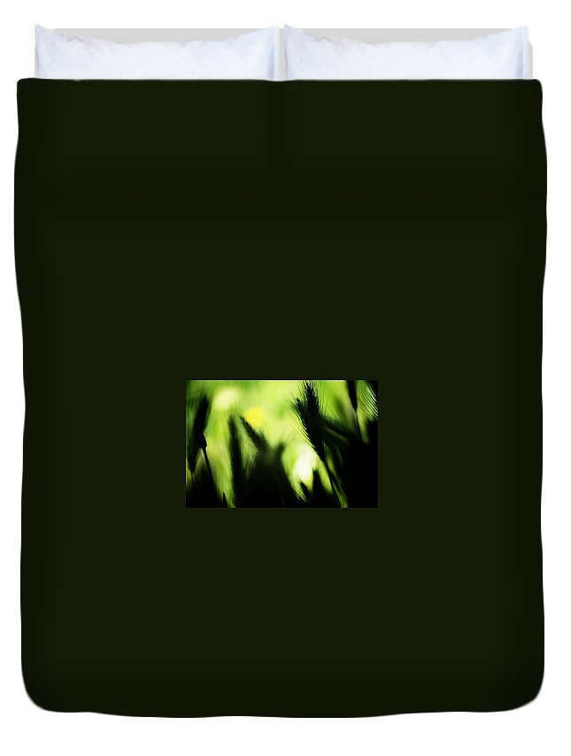 Green Duvet Cover featuring the photograph Harmonious by Jessica Shelton