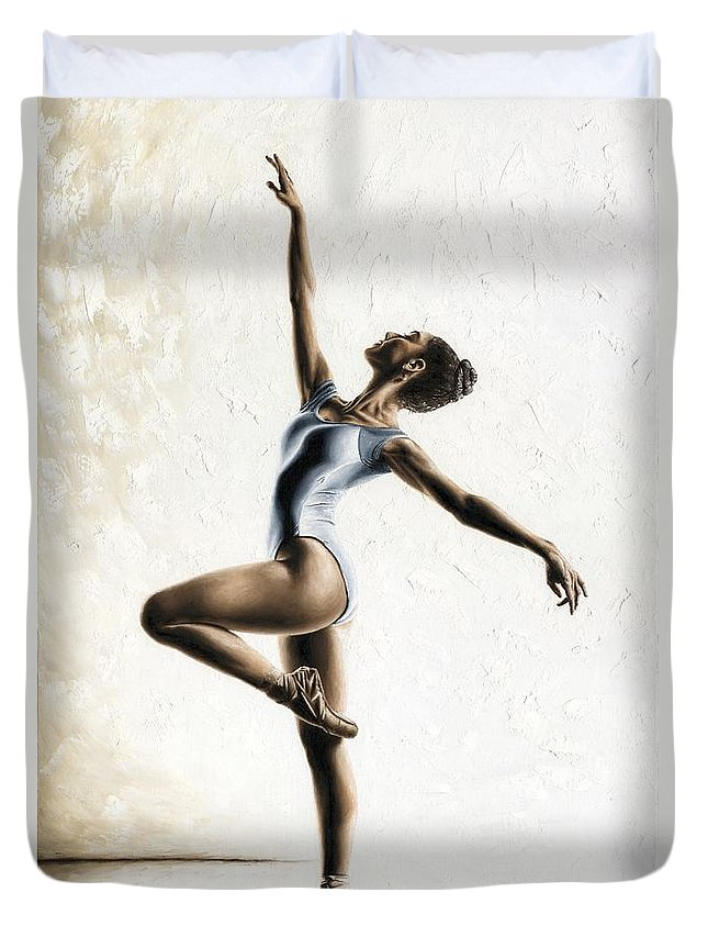 Dance Duvet Cover featuring the painting Harmony and Light by Richard Young