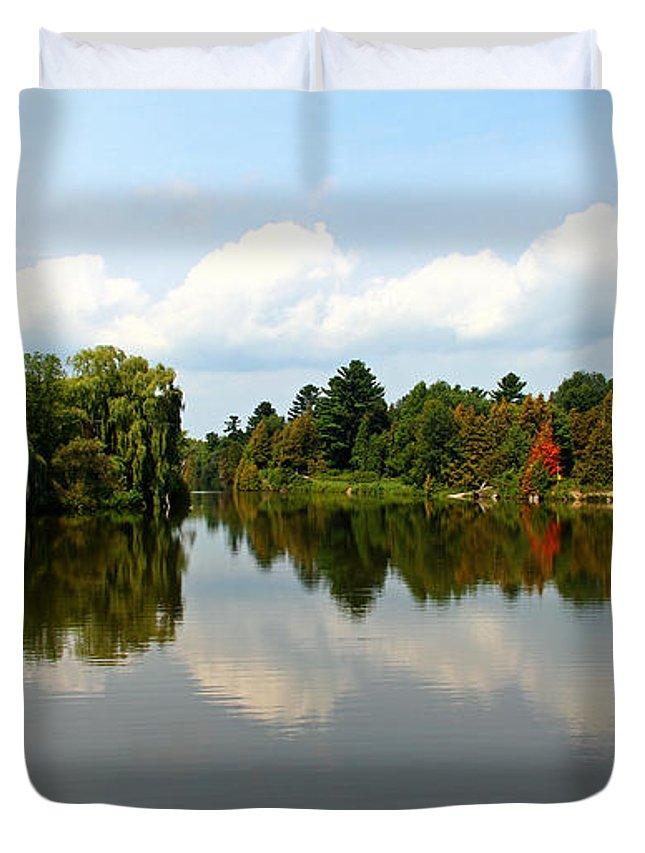 Boyne River Duvet Cover featuring the photograph Harmony On The Boyne River by Debbie Oppermann