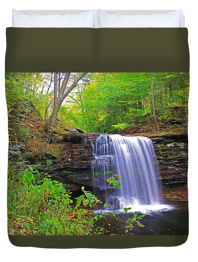 Pa Duvet Cover featuring the photograph Harrison Wright Early Fall by Rich Walter