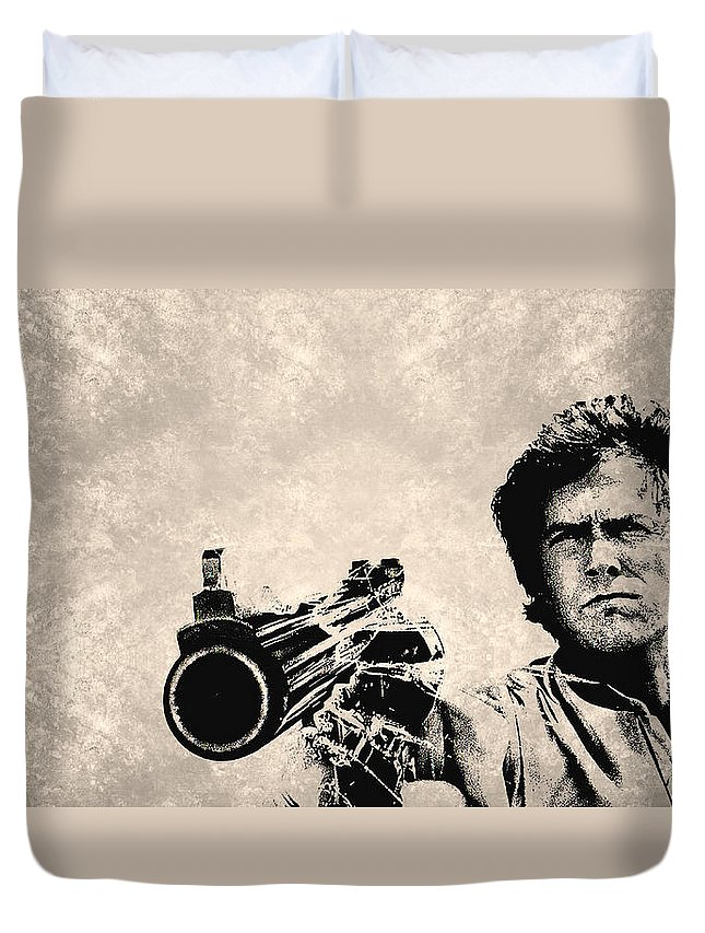 Harry Callahan 2a Duvet Cover featuring the painting Harry Callahan 2a by MotionAge Designs