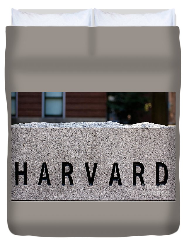 Boston Duvet Cover featuring the photograph Harvard by Jannis Werner