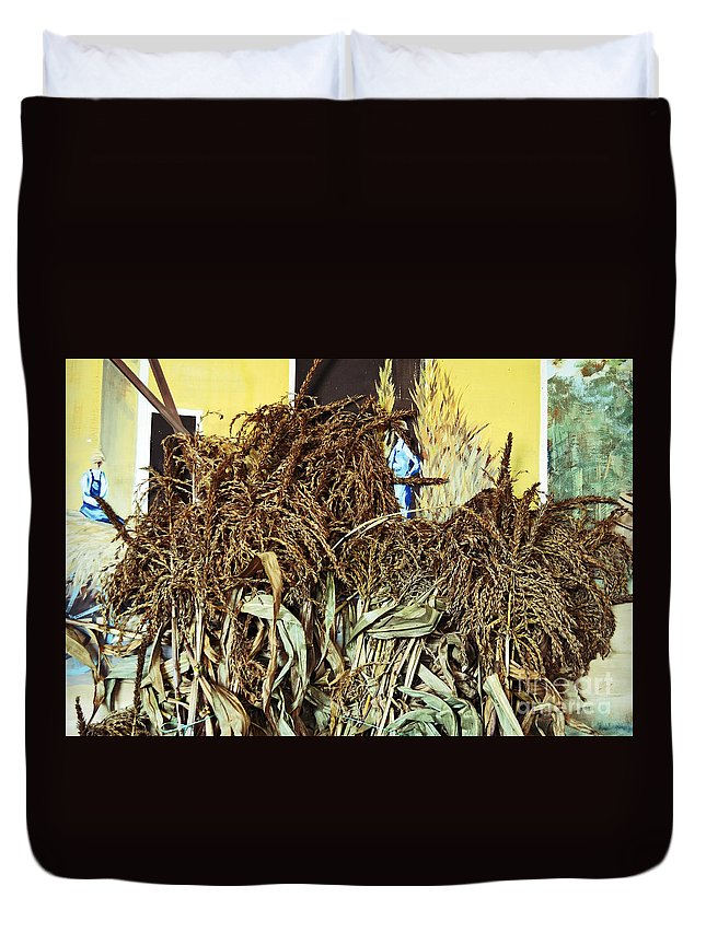 Leaves Duvet Cover featuring the photograph Harvest Art by Kevin Fortier