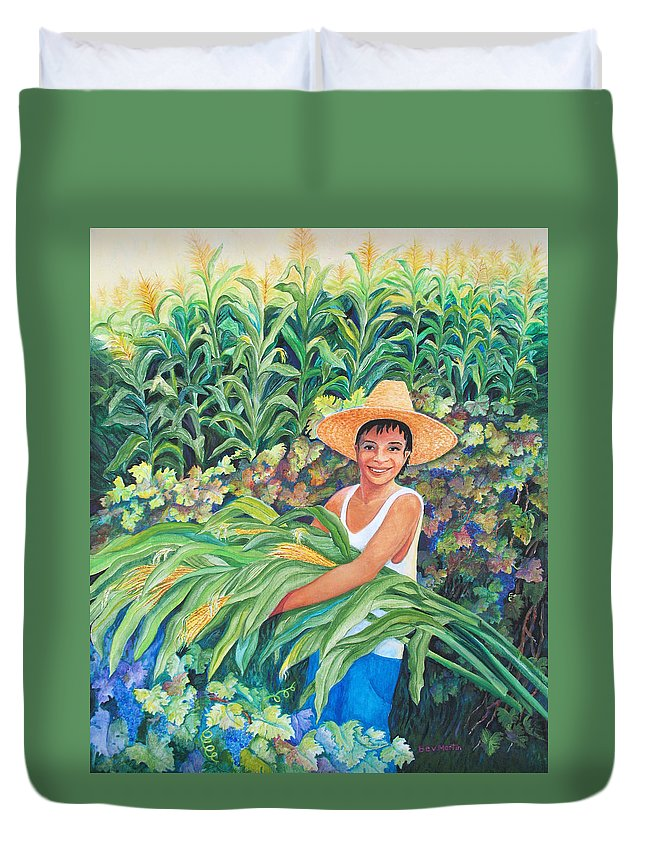 Harvest Magic Duvet Cover featuring the painting Harvest Magic by Beverly Martin