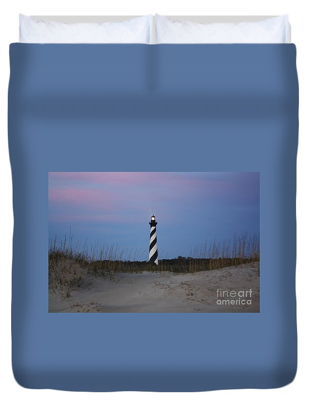 Sand Duvet Cover featuring the digital art Hatteras Morning 2 by Tony Cooper
