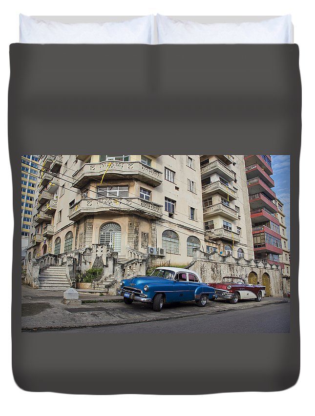 1950s Style Duvet Cover featuring the photograph Havana Beauty by Brian Kamprath