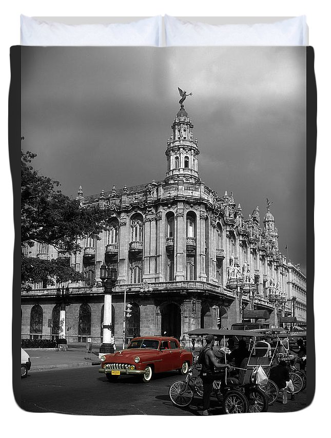 Cuba Duvet Cover featuring the photograph Havana Red by James Brunker