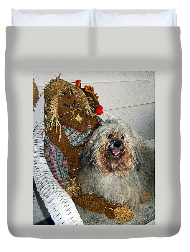Havanese Dog Duvet Cover featuring the photograph Havanese Dog by Sally Weigand