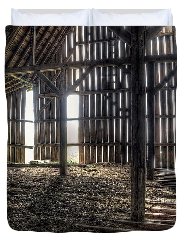 Barn Duvet Cover featuring the photograph Hay Loft 2 by Scott Norris
