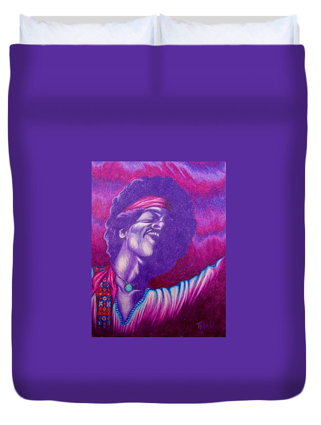 Michael Duvet Cover featuring the drawing Haze by Michael TMAD Finney