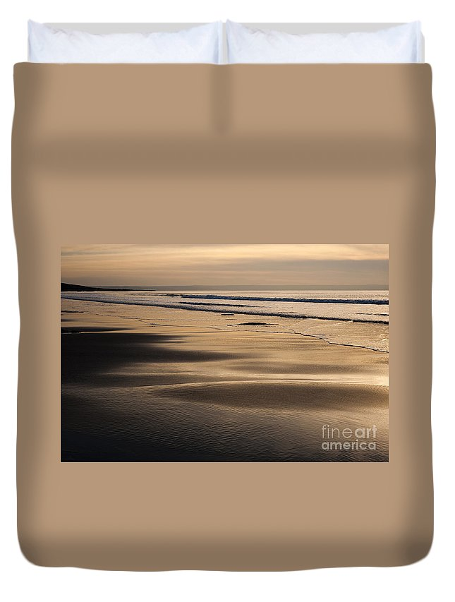 Anne Duvet Cover featuring the photograph Hazy Croyde by Anne Gilbert