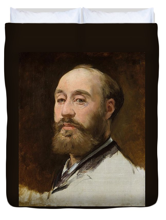 1882-1883 Duvet Cover featuring the painting Head Of Jean-baptiste Faure by Edouard Manet