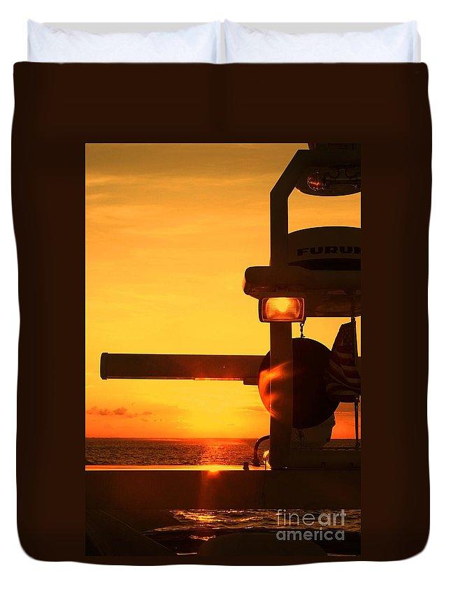 Sunset Duvet Cover featuring the photograph Heading Towards The Sun By Diana Sainz by Diana Raquel Sainz