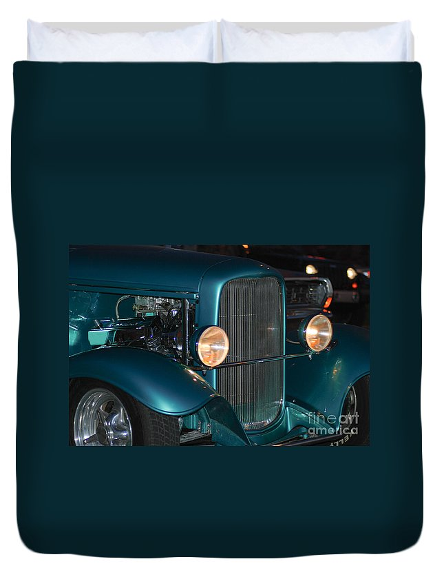 Duvet Cover featuring the photograph Headlights by Optical Playground By MP Ray