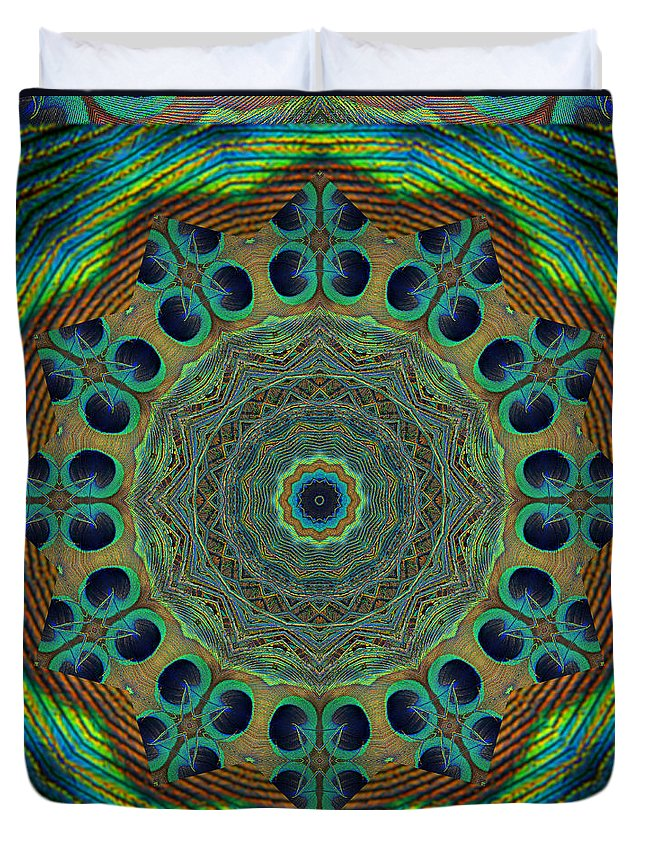 Mandalas Duvet Cover featuring the photograph Healing Mandala 19 by Bell And Todd