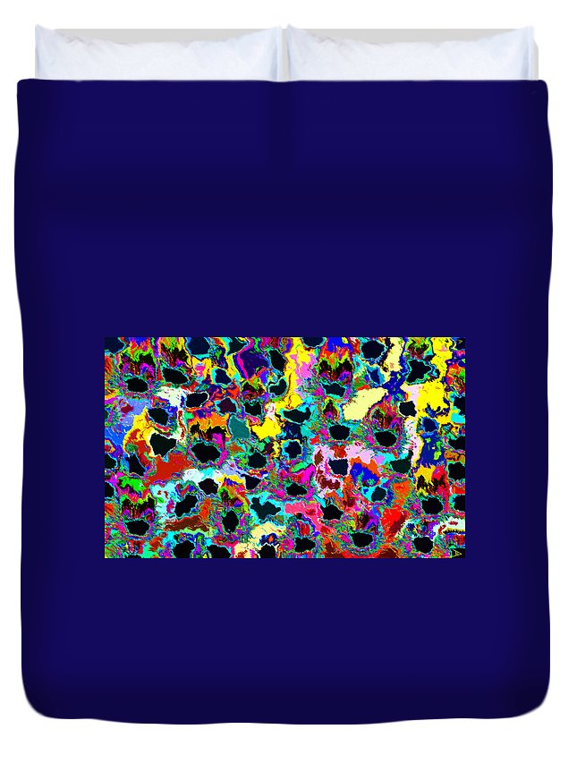 Healing Duvet Cover featuring the painting Healing The Heart by David Lee Thompson