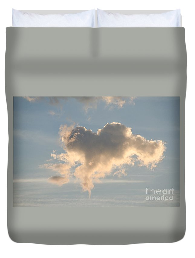 Ice Duvet Cover featuring the photograph Heart Cloud 2 by Cassie Marie Photography