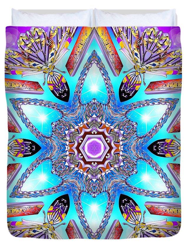 Sacredlife Mandalas Duvet Cover featuring the digital art Heart Of Inner Sense by Derek Gedney