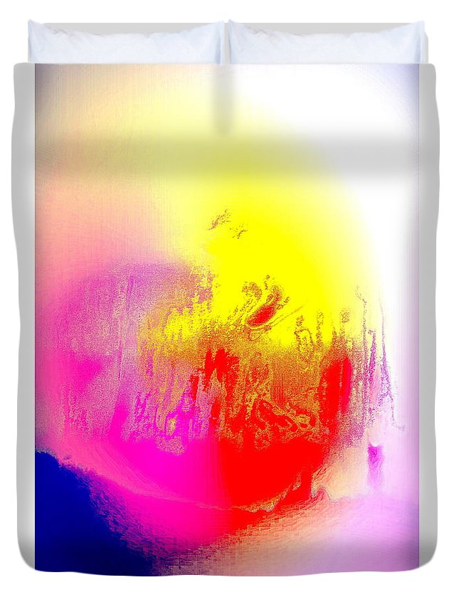 Heart Duvet Cover featuring the painting If You Think This Is Heartbreaking You Have Some Imagination by Hilde Widerberg