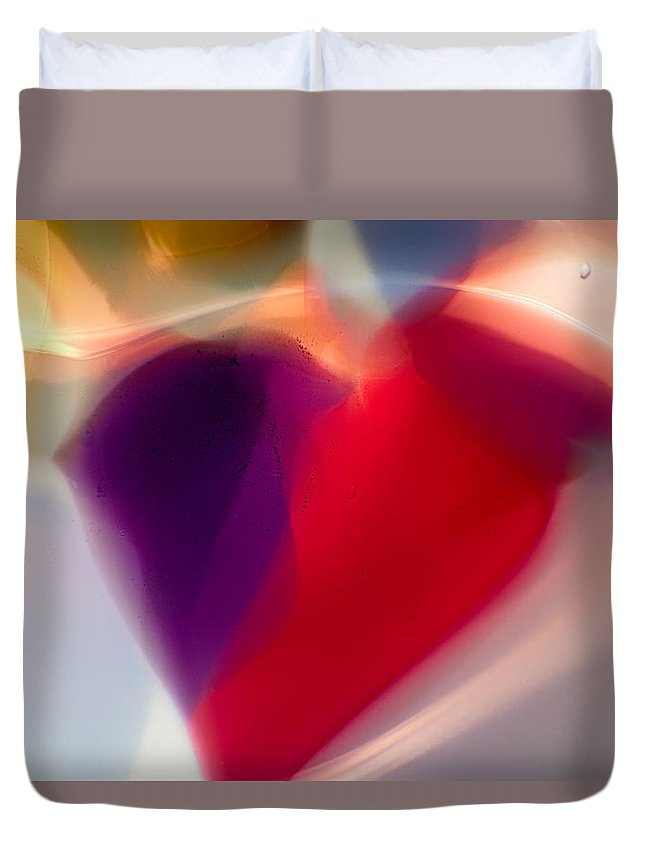 Glass Duvet Cover featuring the photograph Hearts Afire by Omaste Witkowski