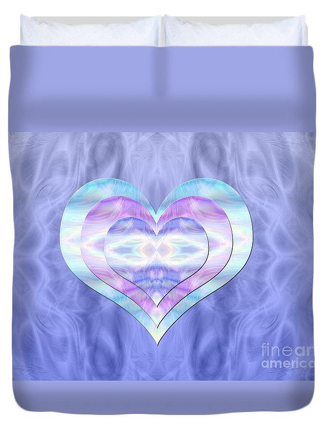 Heart's Desire Duvet Cover featuring the digital art Heart's Desire by Kristi Kruse