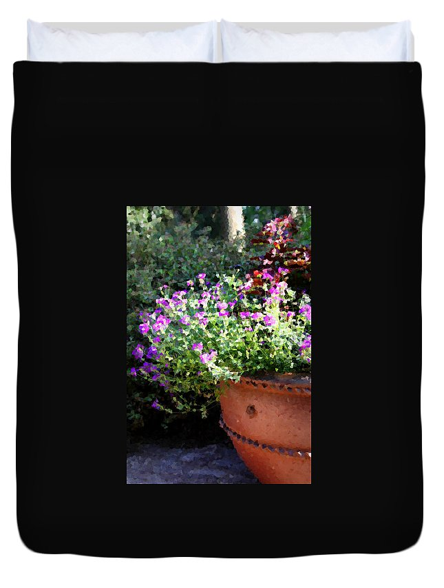 Flower Duvet Cover featuring the photograph Heather Mosaic by Tina Meador