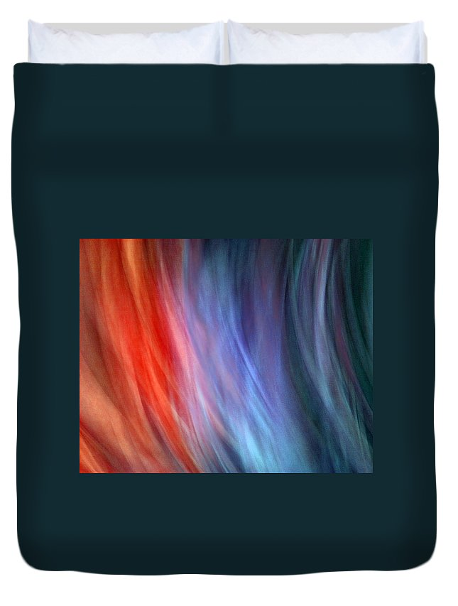 Blue Duvet Cover featuring the photograph Heaven Desire by Munir Alawi