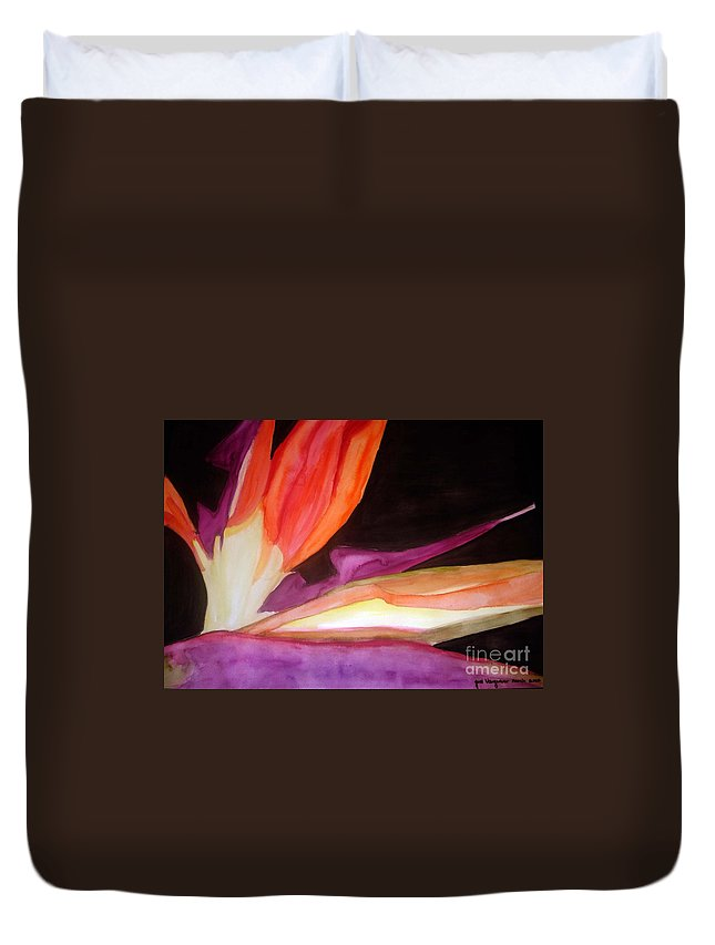 Water Color Flower Duvet Cover featuring the painting Heaven by Yael VanGruber