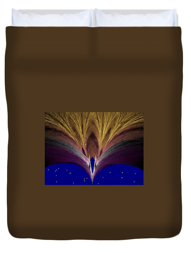 Gold Duvet Cover featuring the painting Heavenly Archway by Bruce Nutting