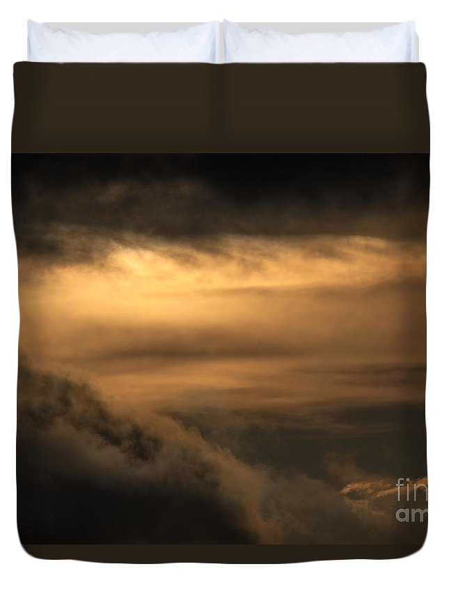 Clouds Duvet Cover featuring the photograph Heavenly Clouds by Dale Powell