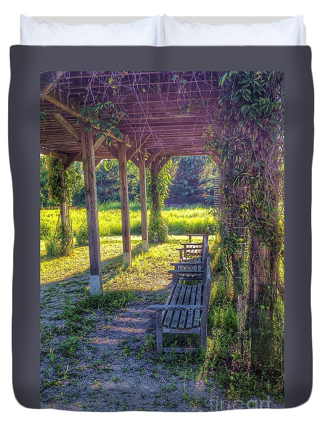 Grape Duvet Cover featuring the photograph Heavenly Grape Arbor by Nikki Vig