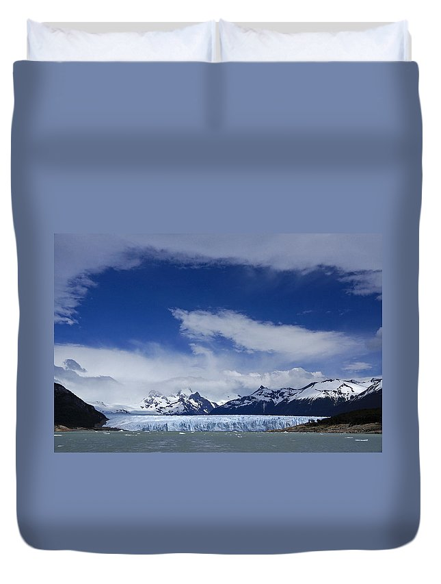 Argentina Duvet Cover featuring the photograph Heavenly Perito Moreno Glacier by Michele Burgess
