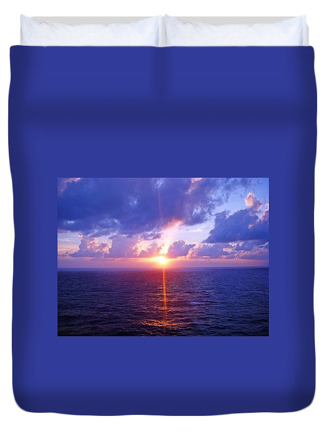 Sunset Duvet Cover featuring the photograph Heavenly Sunset by Aimee L Maher ALM GALLERY
