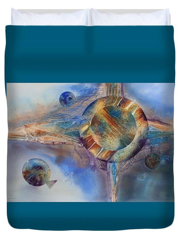 Spiritual Duvet Cover featuring the painting Heavens Gate by Tara Moorman