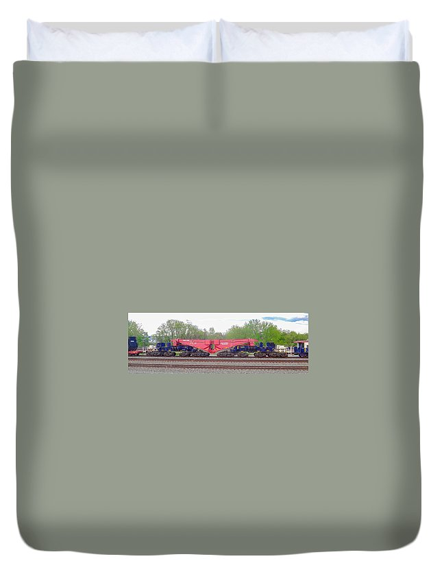 Alexandria Duvet Cover featuring the photograph Heavy Lift 1m Pound Capacity Schnabel Railcar By Emmert International by Jeff at JSJ Photography