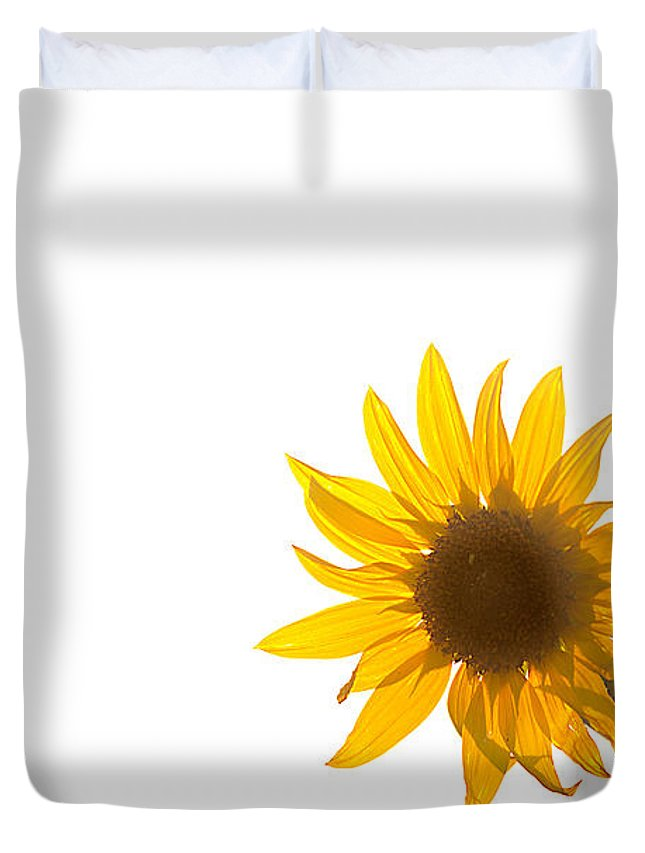 California Duvet Cover featuring the photograph Hello Yellow by Peter Tellone