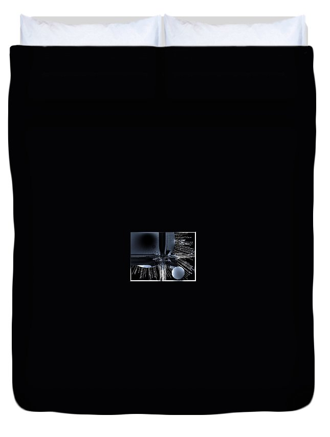 Outer Space Duvet Cover featuring the digital art Helm Of Darkness by Michael Damiani