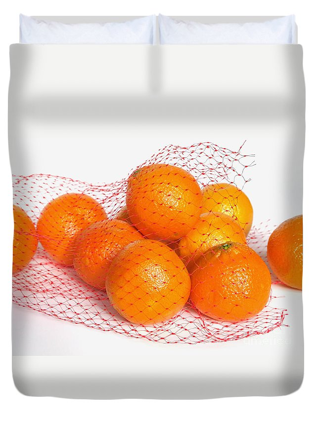Oranges Duvet Cover featuring the photograph Help Yourself by Ann Horn