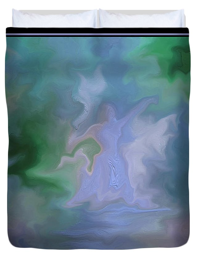 Dance Duvet Cover featuring the painting Her Dance by Steven Lebron Langston
