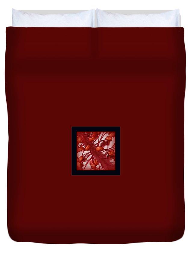 Hibiscus Macro Duvet Cover featuring the photograph Hibiscus Macro by Ernie Echols