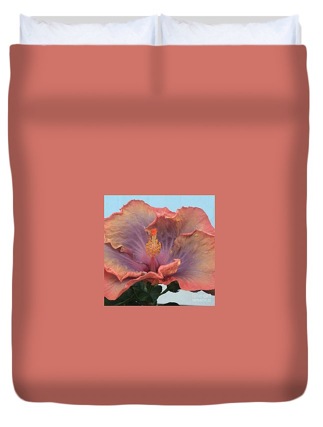 Hibiscus Duvet Cover featuring the photograph Hibiscus by Robin Maria Pedrero