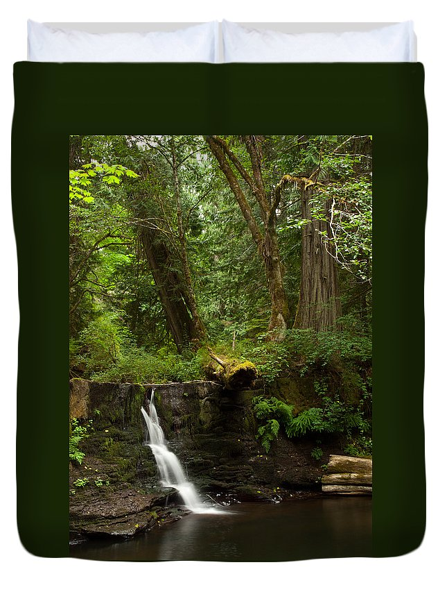 Water Duvet Cover featuring the photograph Hidden Gem by Randy Hall