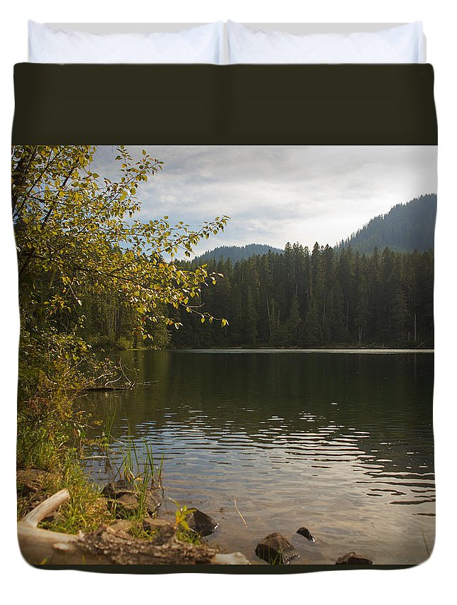Lake Duvet Cover featuring the photograph Hidden Lake No. 1 by Belinda Greb