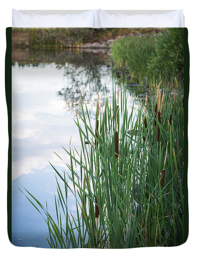 Lake Duvet Cover featuring the photograph Hidden Lake Reflection by Debra Powell