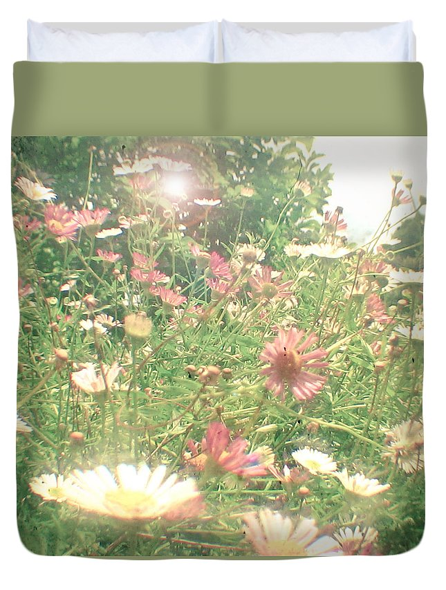 Flower Photograph Duvet Cover featuring the photograph Hide And Seek by Cassia Beck