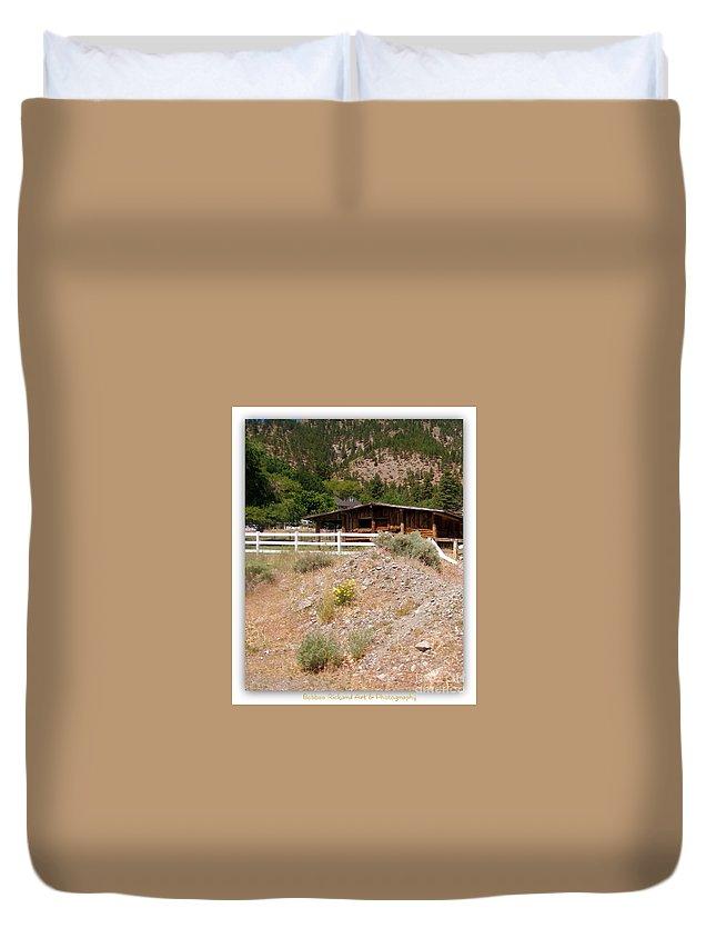 High Desert Duvet Cover featuring the photograph High Desert by Bobbee Rickard