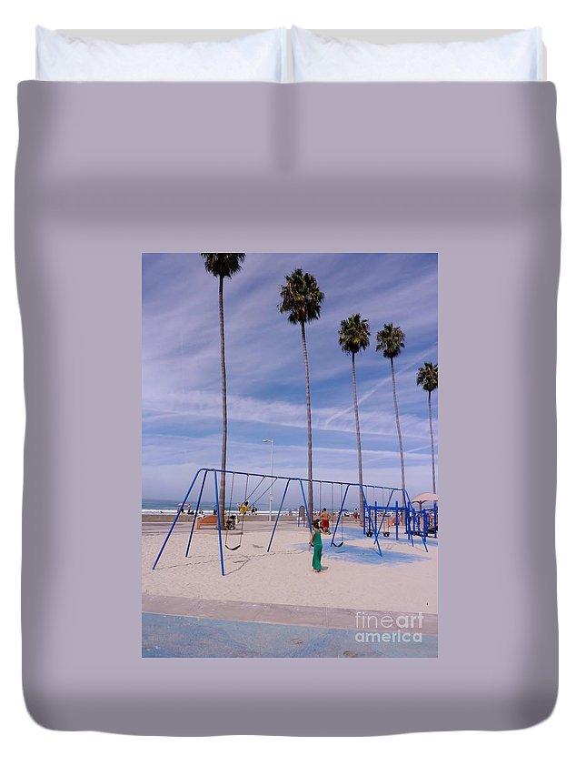 Waves Duvet Cover featuring the photograph Higher by Susan Garren