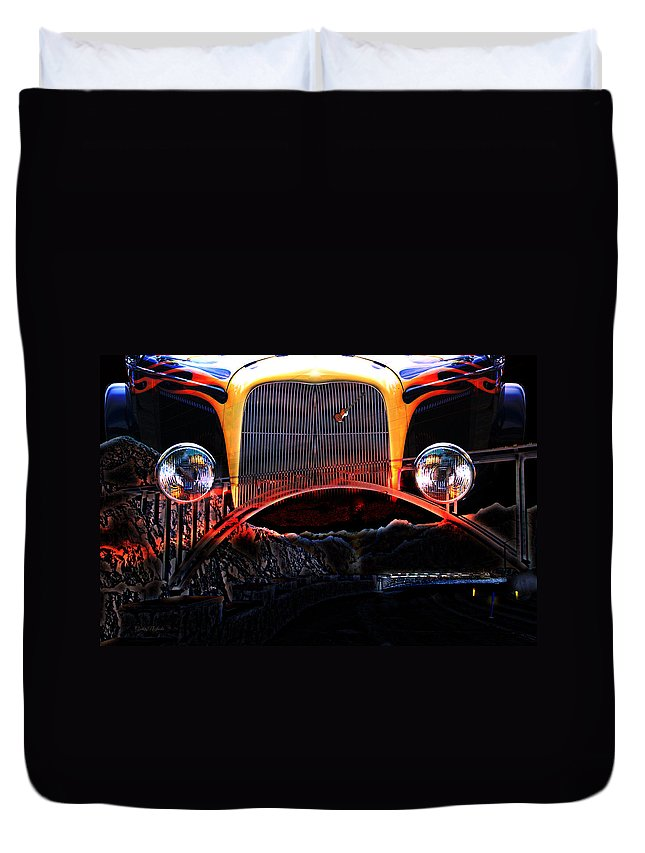 Highway Duvet Cover featuring the photograph Highway To Hell by Gunter Nezhoda