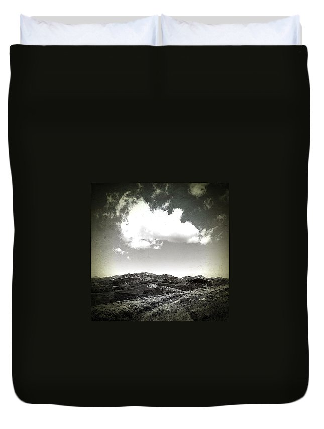 Hiking Duvet Cover featuring the photograph Hiking by Anne Thurston