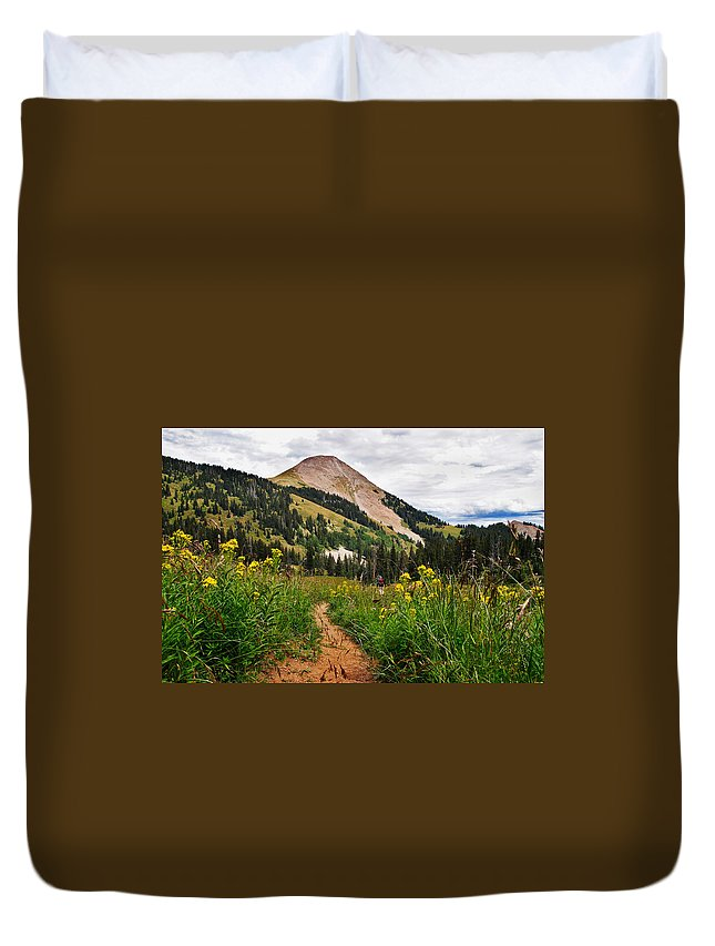 3scape Duvet Cover featuring the photograph Hiking In La Sal by Adam Romanowicz